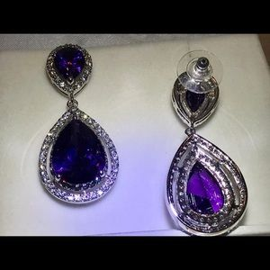Earrings replica famous amethyst
